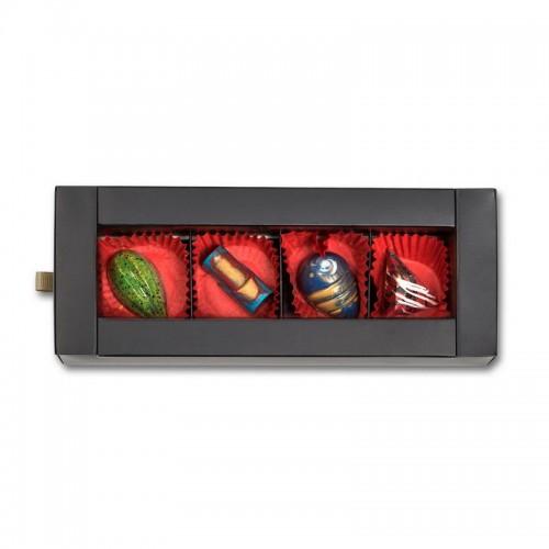 Шоколадный набор CraftBoxUA Оригинальный подарок Фруктовая коллекция 4 шт