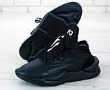 Мужские кроссовки Adidas Y-3 Kaiwa в стиле Адидас Кайва ЧЕРНЫЕ (Реплика ААА+), фото 5