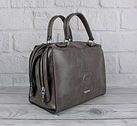 Женская сумка саквояж Velina Fabbiano 57956-1 серая, фото 1