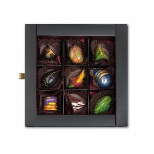 Шоколадный набор CraftBoxUA Оригинальный подарок Сырная коллекция 9 шт