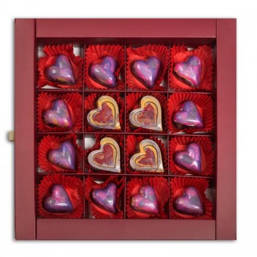 Шоколадный набор CraftBoxUA Оригинальный подарок Романтическая коллекция 16 шт