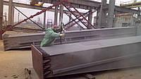 Пескоструйная обработка кранового оборудования.