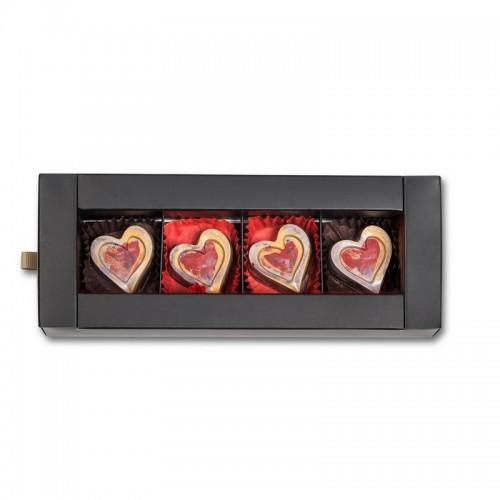 Шоколадный набор CraftBoxUA Оригинальный подарок Романтическая коллекция 4 шт