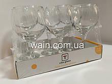 Набор бокалов для вина 210 мл 6 шт стеклянных Vita Glass