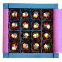 Шоколадный набор CraftBoxUA Оригинальный подарок Мармелад в шоколаде 16 шт
