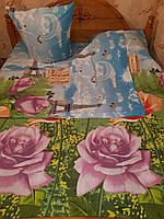 """Двуспальный комплект постельного белья """"Утренние розы"""""""