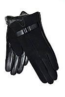 Женские перчатки кожа/замш оптом