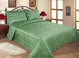 11-09 Зеленый Love You Стёганное Покрывало 240x260 см +2 нав. 50x70 см