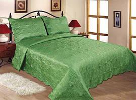 11-09 Светло-Зеленый Love You Стёганное Покрывало 240x260 см +2 нав. 50x70 см