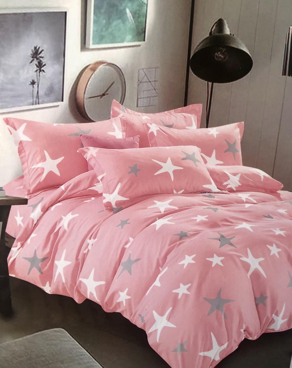 Комплект постельное белье, 100% хлопок, двухцветное, 200×230 евро плюс