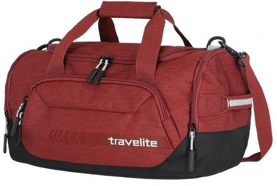Дорожная сумка из ткани Travelite Kick off 69 красная на 23л