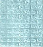 Самоклеющиеся обои Декоративная 3D панель ПВХ под голубой кирпич
