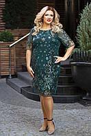 Вечернее платье женское Пайетки на сетке Размер 50 52 54 56 58 60 В наличии 3 цвета, фото 1