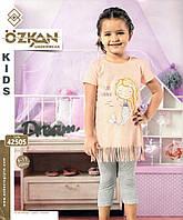 Комплект русалка футболка и капри для девочек от 0 до 4 лет