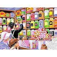 Картины по номерам для детей Набор для творчества Магазин сладостей Sequin Art SA1520