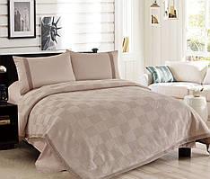 Комплект постельного белья Love You Пике + сатин + кружево мокко КПБ евро
