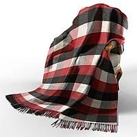 Плед Vladi Палермо бел-красн-чёрн (4084) 140x200 см