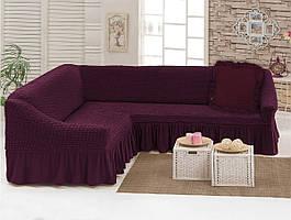 Чехлы: Диван угловой + декоративная подушка вишня (40) Love You 198043 Угловой диван