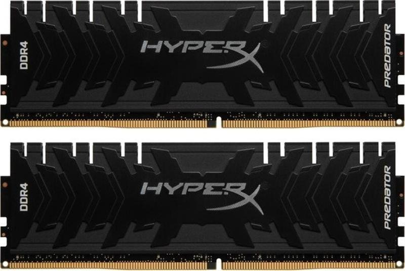 Модуль памяти DDR4 2x8GB/3333 Kingston HyperX Predator Black (HX433C16PB3K2/16)