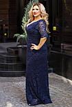Нарядное гипюровое платье в пол Размер 50 52 54 56 58 60 В наличии 4 цвета, фото 3