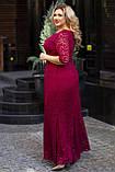 Нарядное гипюровое платье в пол Размер 50 52 54 56 58 60 В наличии 4 цвета, фото 4