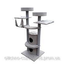 Домик с когтеточкой для кошек MAKSPOL 180 см DOT (PLUSZ)