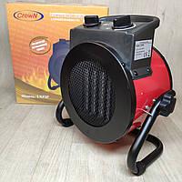 Тепловентилятор CROWN 2 КВТ Керамический обогреватель, Электрическая тепловая пушка