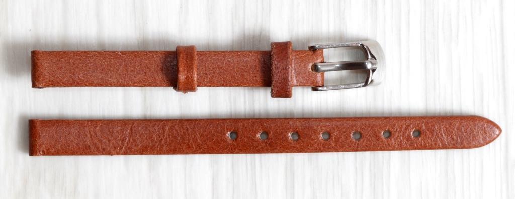 Ремешок для часов из натуральной кожи Torino (Италия) Коричневого цвета 8 мм