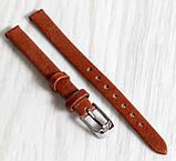 Ремешок для часов из натуральной кожи Torino (Италия) Коричневого цвета 8 мм, фото 3