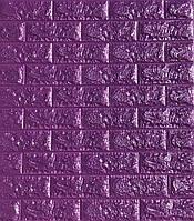 Самоклеющиеся обои Декоративная 3D панель ПВХ под фиолетовый кирпич