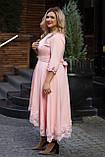 Нарядное платье женское Костюмка Отделка кружево Размер 56 58 60 В наличии 4 цвета, фото 2