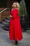 Нарядное платье женское Костюмка Отделка кружево Размер 56 58 60 В наличии 4 цвета, фото 3
