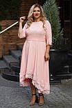 Нарядное платье женское Костюмка Отделка кружево Размер 56 58 60 В наличии 4 цвета, фото 4