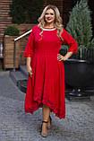 Нарядное платье женское Костюмка Отделка кружево Размер 56 58 60 В наличии 4 цвета, фото 5