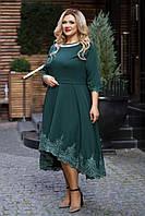 Нарядное платье женское Костюмка Отделка кружево Размер 56 58 60 В наличии 4 цвета, фото 1
