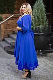 Нарядное платье женское Костюмка Отделка кружево Размер 56 58 60 В наличии 4 цвета, фото 8