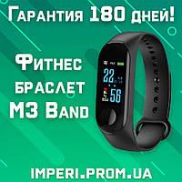 Фитнес браслет - реплика Xiaomi Mi Band M3 Black цветной экран! фитнес трекер, шагомер'