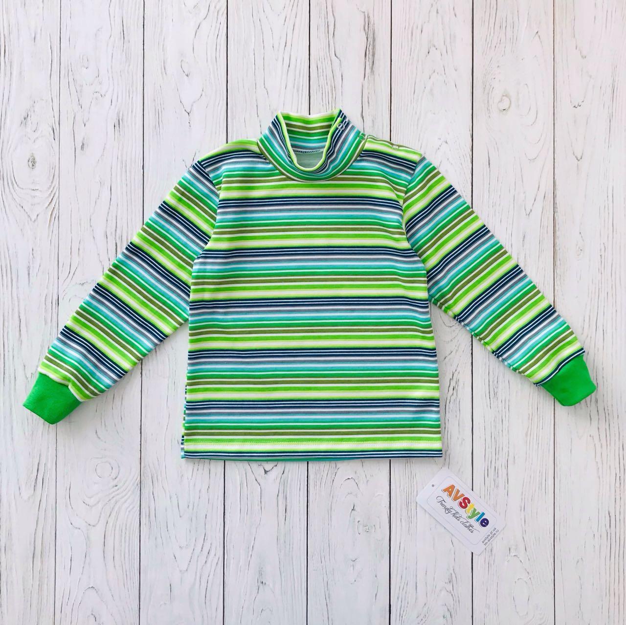 """Гольф детский """"Полоска"""", цвет: Зеленый"""