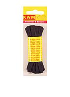 Шнурок черный 1 пара по 120 см, ширина 8 мм