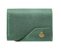Кожаный женский кошелек Triple зеленый
