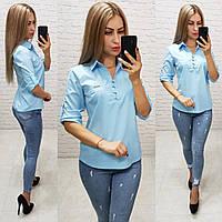Блуза женская арт 828, цвет голубой