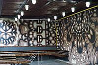 Роспись стен интерьера и экстерьера
