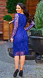 Женское гипюровое платье по фигуре Размер 50, 52, 54 В наличии 4 цвета, фото 3