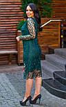 Женское гипюровое платье по фигуре Размер 50, 52, 54 В наличии 4 цвета, фото 5