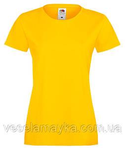 Желтая женская футболка (Премиум)