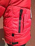 Тёплая приталенная короткая женская куртка, фото 2