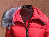 Тёплая приталенная короткая женская куртка, фото 5