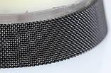 Браслет сетка для часов на магнитной застежке. Миланское Плетение,17 мм. Черный, фото 6