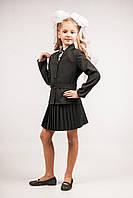 Пиджак школьный приталенный для девочек, размеры 28, 30, 32, 34, 36. (П-71)