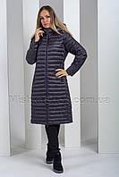 Демисезонное пальто цвета баклажан Money&You 8085, фото 1